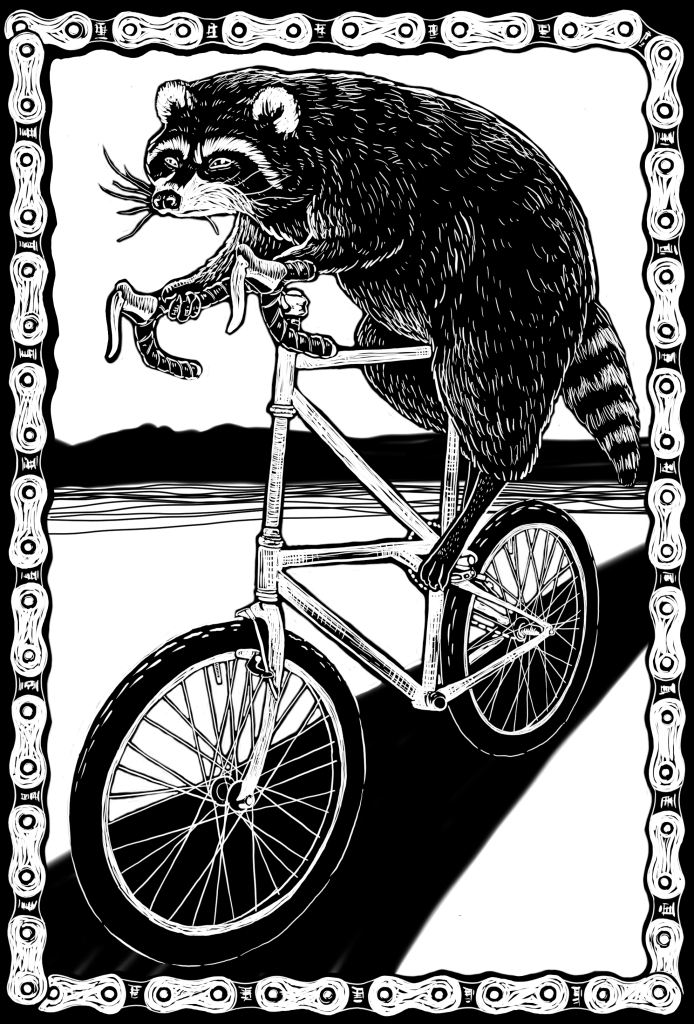 tallbike raccoon