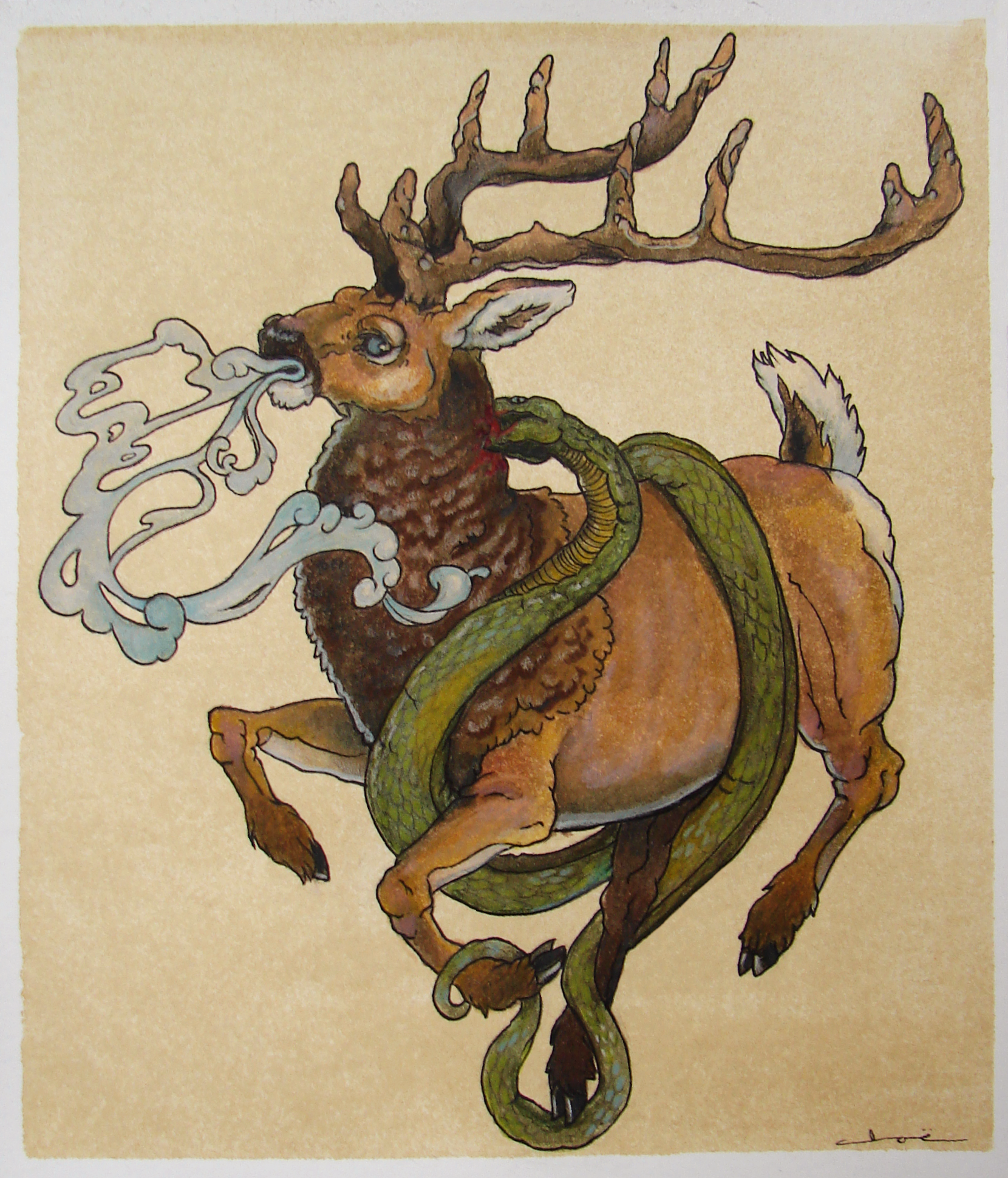 stag and serpent